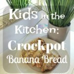 Kids in the kitchen with Ashlyn-she's making Crockpot Banana Bread