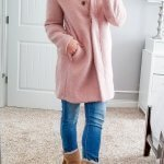 Pink and Cream Cold Weather Outfit