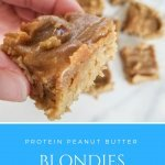 Protein Peanut Butter Blondies